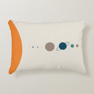 Scale of the Solar System Space Exploration Accent Pillow