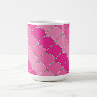 Scale pattern in pink colors mugs