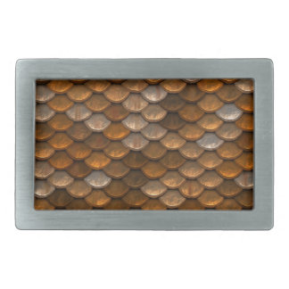 Scale Pattern Rectangular Belt Buckle