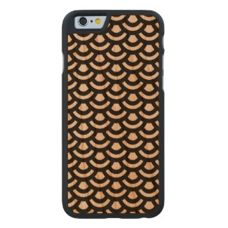 Scale Pattern Wooden iPhone 6 Case Carved® Cherry iPhone 6 Slim Case
