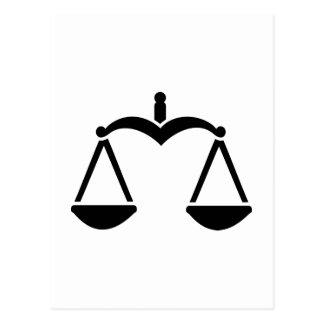 Scale symbol postcard