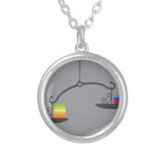 Scale Vector Silver Plated Necklace