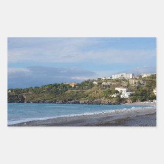 Scalea Beach, Calabria Rectangle Stickers