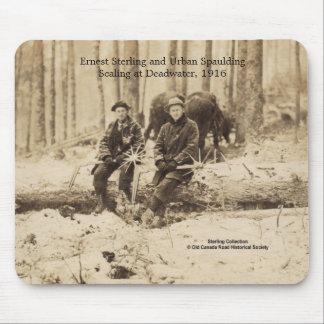 Scalers at Deadwater, Maine - 1916 Mouse Pad