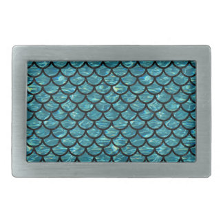 SCALES1 BLACK MARBLE & BLUE-GREEN WATER (R) BELT BUCKLE
