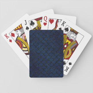 SCALES1 BLACK MARBLE & BLUE GRUNGE (R) PLAYING CARDS