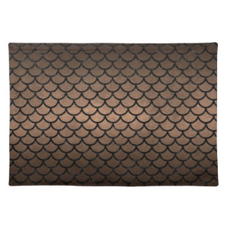 SCALES1 BLACK MARBLE & BRONZE METAL (R) PLACEMAT
