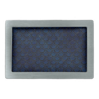 SCALES2 BLACK MARBLE & BLUE GRUNGE (R) RECTANGULAR BELT BUCKLE