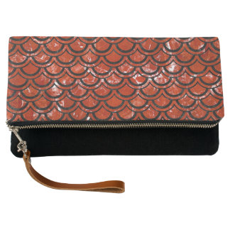 SCALES2 BLACK MARBLE & RED MARBLE (R) CLUTCH