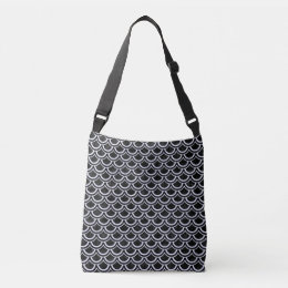 SCALES2 BLACK MARBLE & WHITE MARBLE CROSSBODY BAG