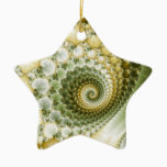 Scales Fractal Art Ceramic Ornament