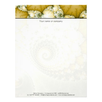 Scales Fractal Art Letterhead
