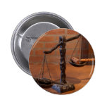 Scales Of Justice 2 Inch Round Button