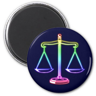 Scales of Justice 2 Inch Round Magnet
