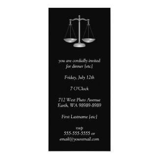 Scales of Justice 4x9.25 Paper Invitation Card