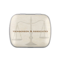Scales Of Justice, Attorney Candy Tin at Zazzle