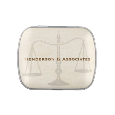 Lawyer Themed Scales of Justice, Attorney Candy Tin