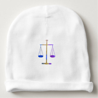 Scales of justice baby beanie