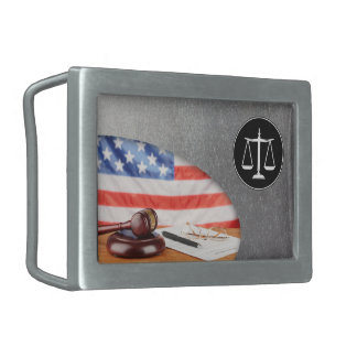 Scales of Justice - Belt Bucklet Rectangular Belt Buckle