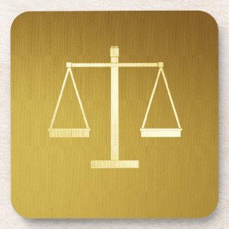 Scales of Justice Beverage Coaster