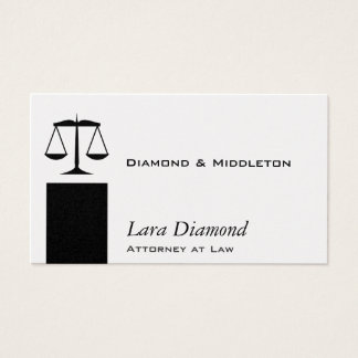 Scales of Justice Black Stand Business Card