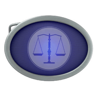 Scales of Justice | Blue Law Symbol Belt Buckle