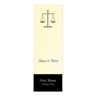 Scales of Justice Double-Sided Mini Business Cards (Pack Of 20)
