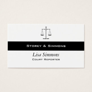 Scales of Justice Business Card