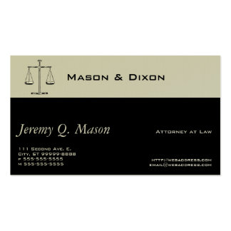Scales of Justice Double-Sided Standard Business Cards (Pack Of 100)