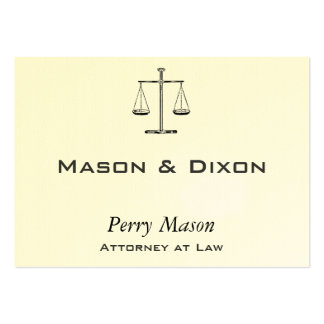 Scales of Justice Large Business Cards (Pack Of 100)