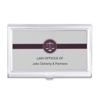Scales of Justice Business Card Holder