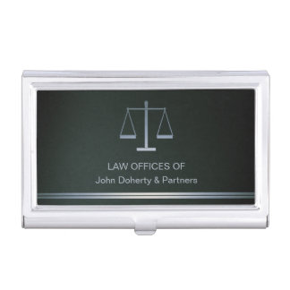 Scales of Justice Business Cards Holder Business Card Case
