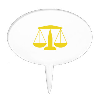 SCALES OF JUSTICE CAKE TOPPER
