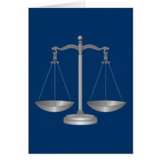 Scales of Justice Greeting Card