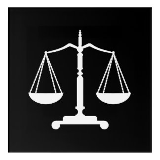 Scales of Justice | Classic Law Symbol Acrylic Print