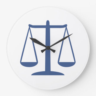 Scales of Justice Wall Clocks