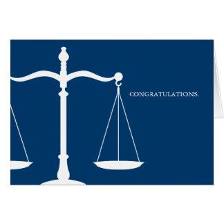 Scales of Justice Custom Congratulations Card
