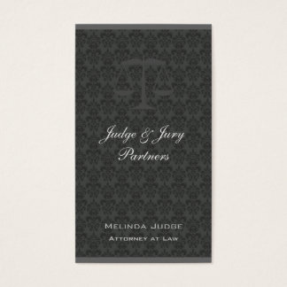 Scales of Justice Damask Color Bar Business Card