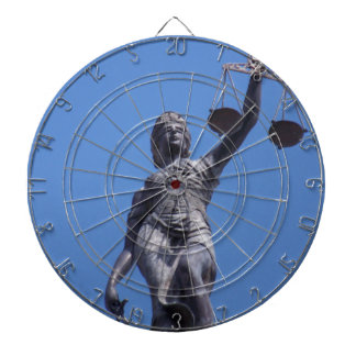 Scales of Justice Dartboard With Darts