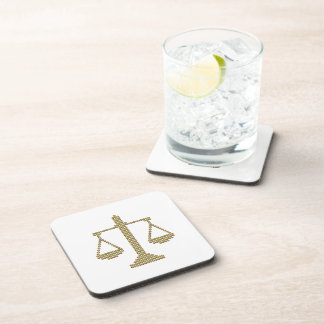 Scales of Justice Drink Coaster