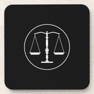 Scales of Justice Drink Coaster