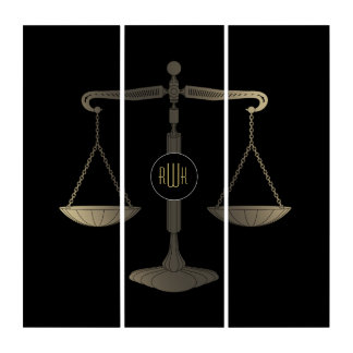 Scales of Justice | Elegant Initials Triptych