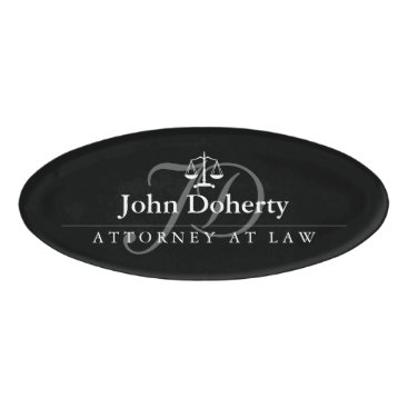 Lawyer Themed Scales of Justice | Elegant Name Tag