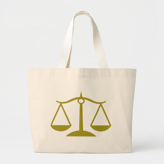 Scales of Justice - Gold Large Tote Bag