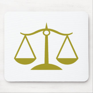 Scales of Justice - Gold Mouse Pad