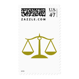 Scales of Justice - Gold Stamp