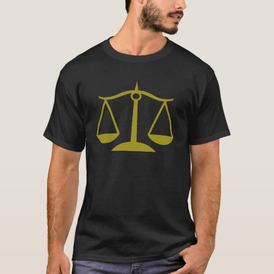 Scales of Justice - Gold T-Shirt