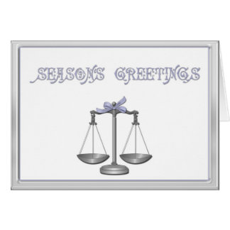 Scales of Justice Holiday Greeting Greeting Card
