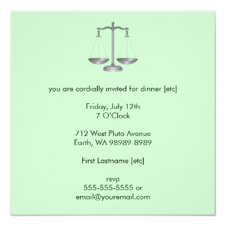 Scales of Justice Custom Invitation