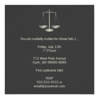 Scales of Justice Personalized Invitation